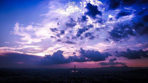 sky  seoul  republic of korea