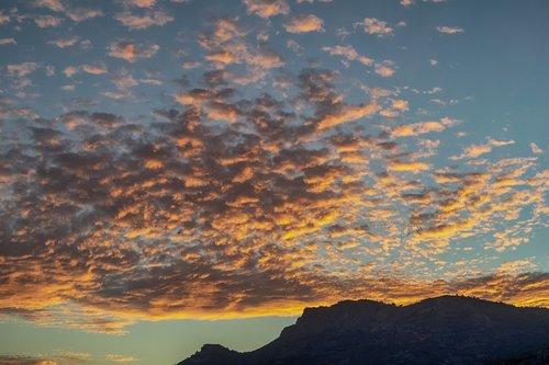 sky  orange  clouds