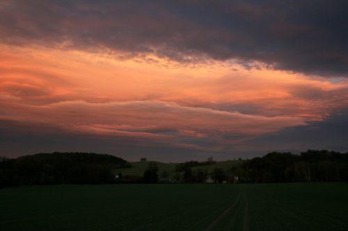 sky sunset drama