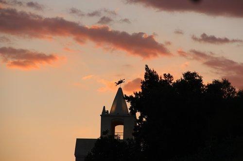 sky  church  twilight