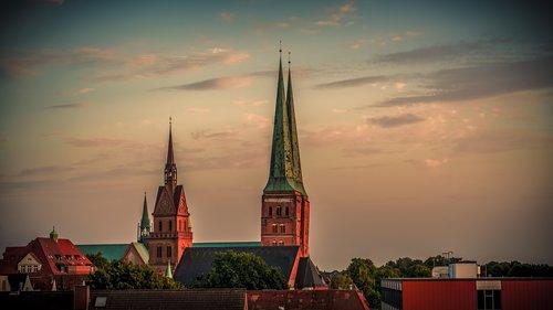 sky  church  church steeples