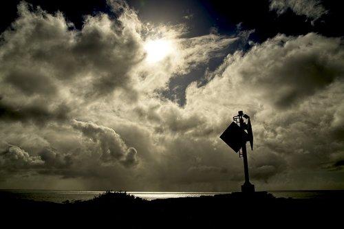 sky  clouds  silhouette
