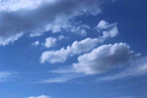 dangus,debesys,vasara,atmosfera,debesuotumas,cumulus,mėlynas,gamta