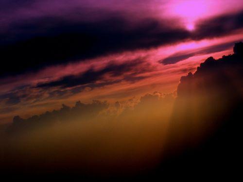 sky cloud sunset