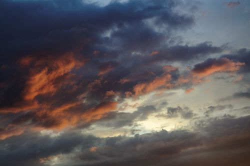 sky clouds afterglow