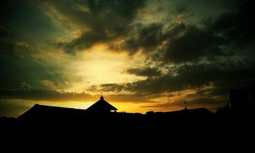 sky silhouette skies