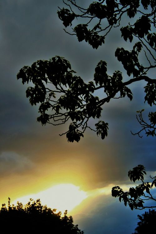 sky clouds sunset
