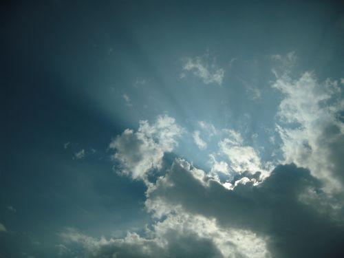 sky clouds sky beams