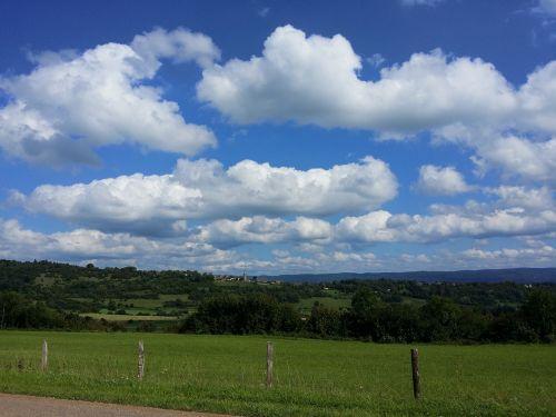 sky clouds jura