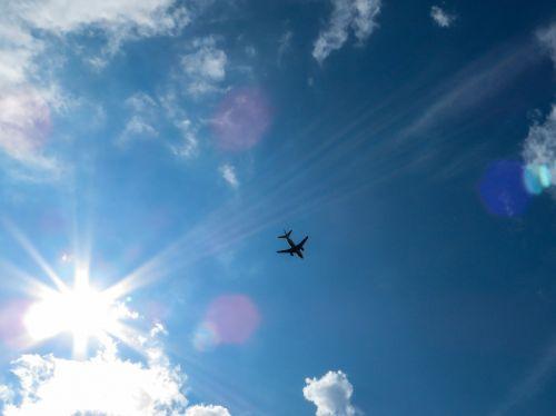 sky sun blue
