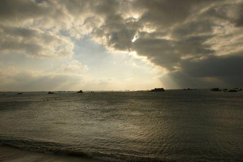 sky twilight sea