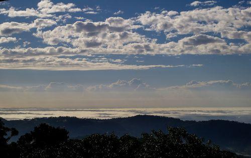 dangus, debesys, mėlynas, balta, Auksinė pakrantė, kranto, vandenynas, Ramiojo vandenyno regionas, panorama, Queensland, australija