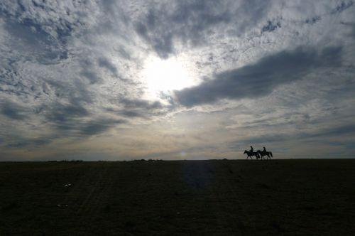 sky silhouette mongolia