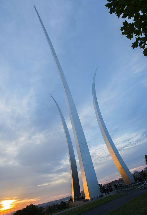 sky clouds air force memorial