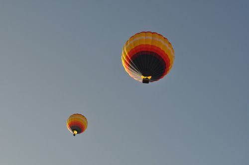 sky hot-air ballooning freedom