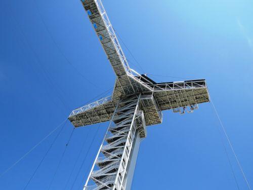 sky line blue tower building