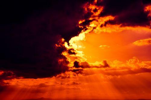 sky on fire revelation clouds