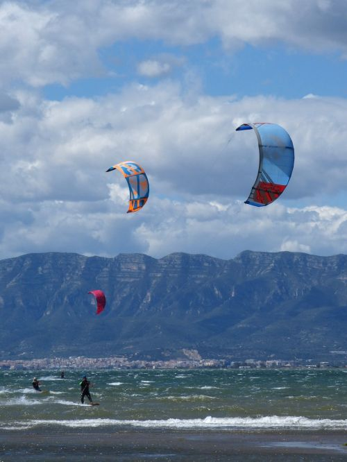 sky surf extreme sport beach