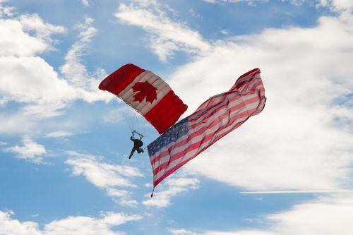 skydiver airshow canadian