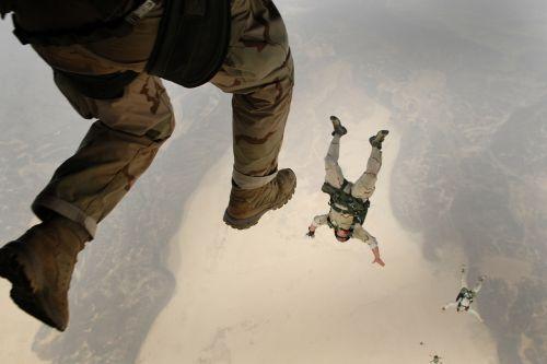 skydiving jump falling