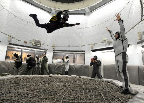 skydiving indoors training