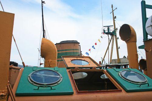 Skylights On Old Tug Boat