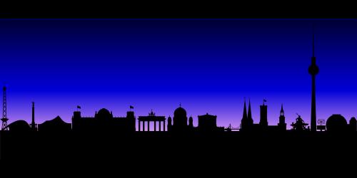 skyline berlin buildings