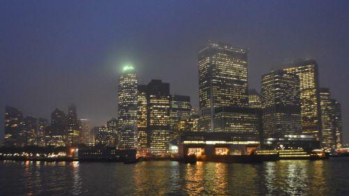 skyline night cityscape