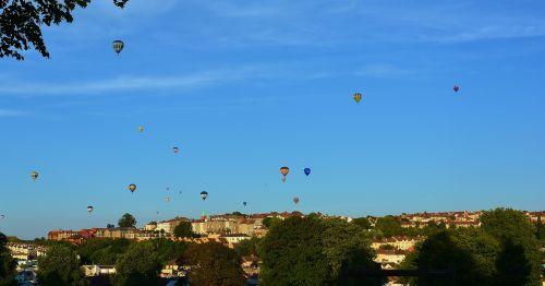 hot air balloons blue sky