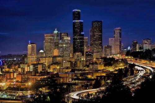 skyline downtown seattle
