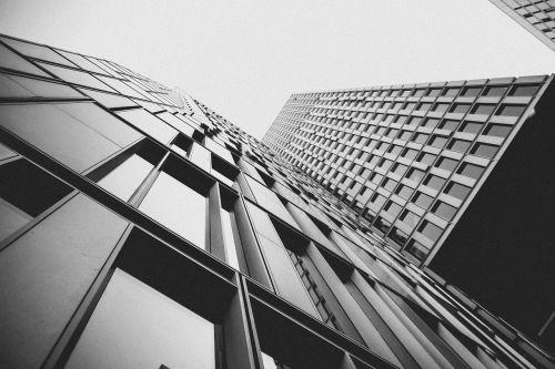 architecture skyscraper black and white