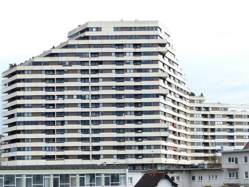 skyscraper block of flats building
