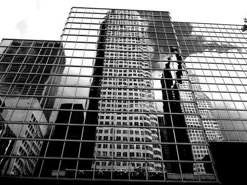 skyscraper new york black and white