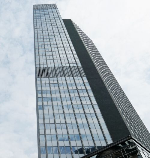 skyscraper glass facade building