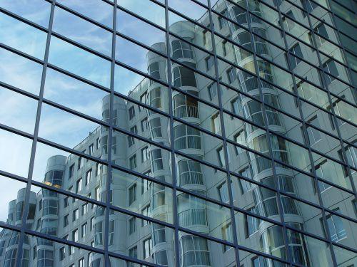skyscraper mirror highrise