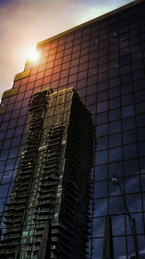 skyscraper architecture reflexion