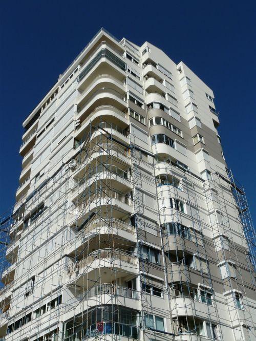skyscraper scaffold build