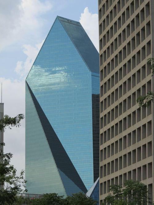 skyscrapers glass facade windows