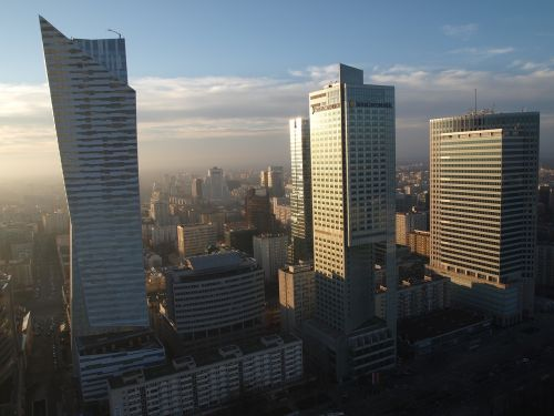 skyscrapers warsaw business