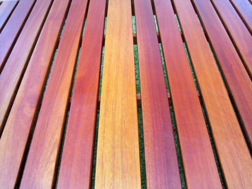 Slats Of Wooden Table Top