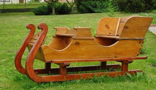 sled wooden garden
