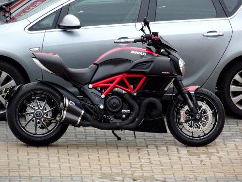 Sleek Ducati Motorcycle