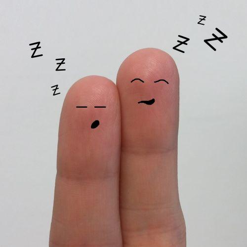sleep smilies fingers