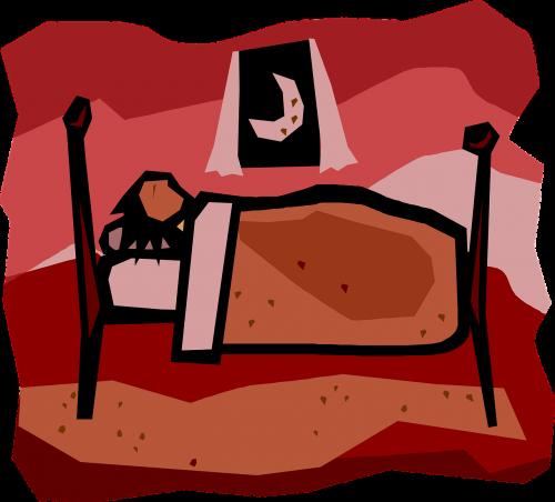 sleeping bed asleep