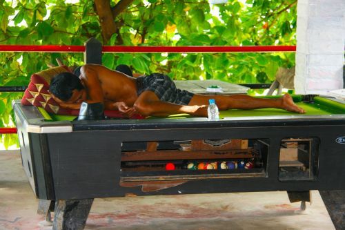 sleeping pool table thailand