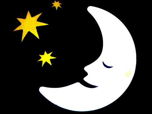 Sleepy Moon And Stars