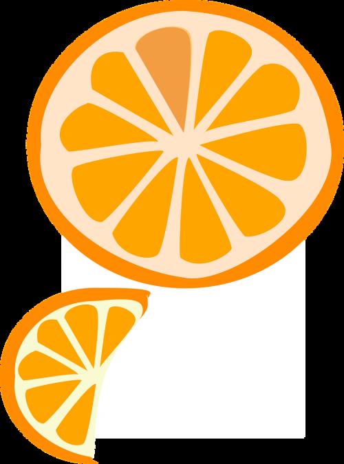 slice fruit orange