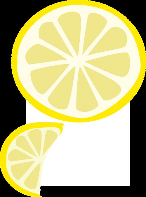 slice fruit yellow