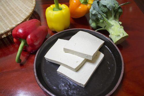 slice the tofu cut a part conveyance tofu