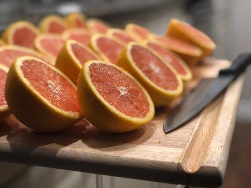 sliced  grapefruit  citrus